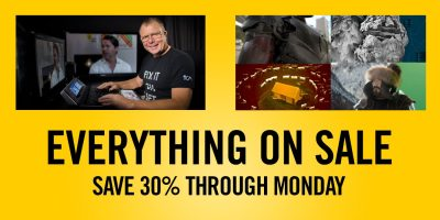 Save 30% on all fxphd memberships and Resolve training
